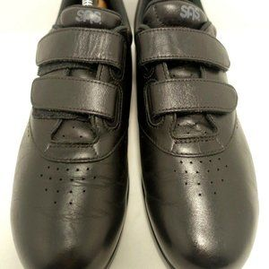 Black Double Strap Comfort Oxford  Shoe 9.5 narrow